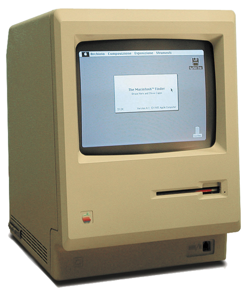 The original Apple Macintosh personal computer, it had a selling price of US$2,495. The sales of the Macintosh were strong from its initial release and reached 70,000 on May 3, 1984