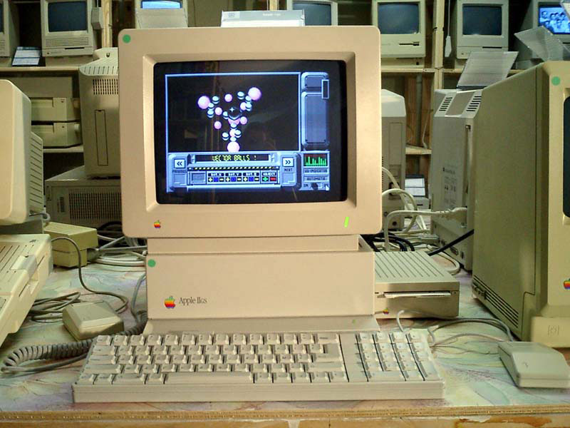 "Apple IIGS - The ""GS"" in the name stands for Graphics and Sound, referring to its enhanced graphics and sound capabilities."