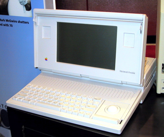 The Macintosh Portable, September 1989, was Apple Inc.'s first attempt at making a battery-powered portable Macintosh personal computer that held the power of a desktop Macintosh