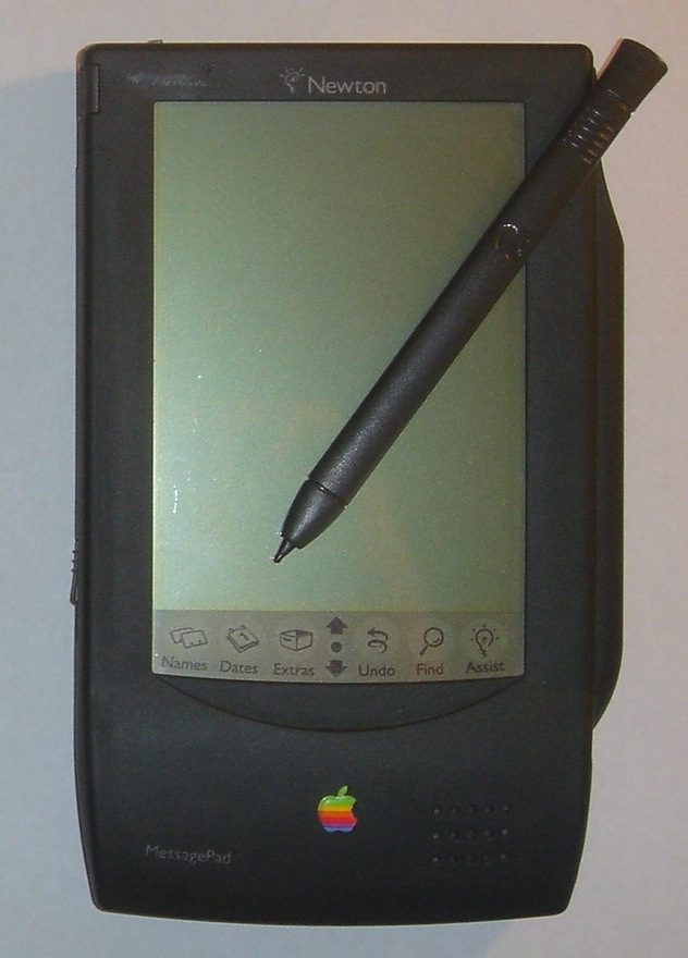 The Newton platform was an early personal digital assistant and the first tablet platform developed by Apple, released in 1998