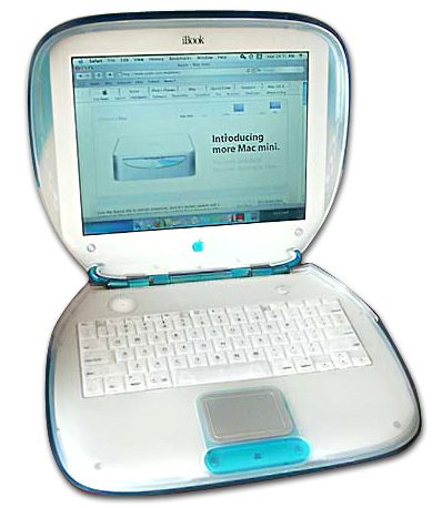 The iBook was a line of laptop computers that sold from 1999 through 2006.